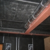 Acoustic Separation - NoiseOut 2 to Wall/Ceiling; Waste Line wrapped with LV-A